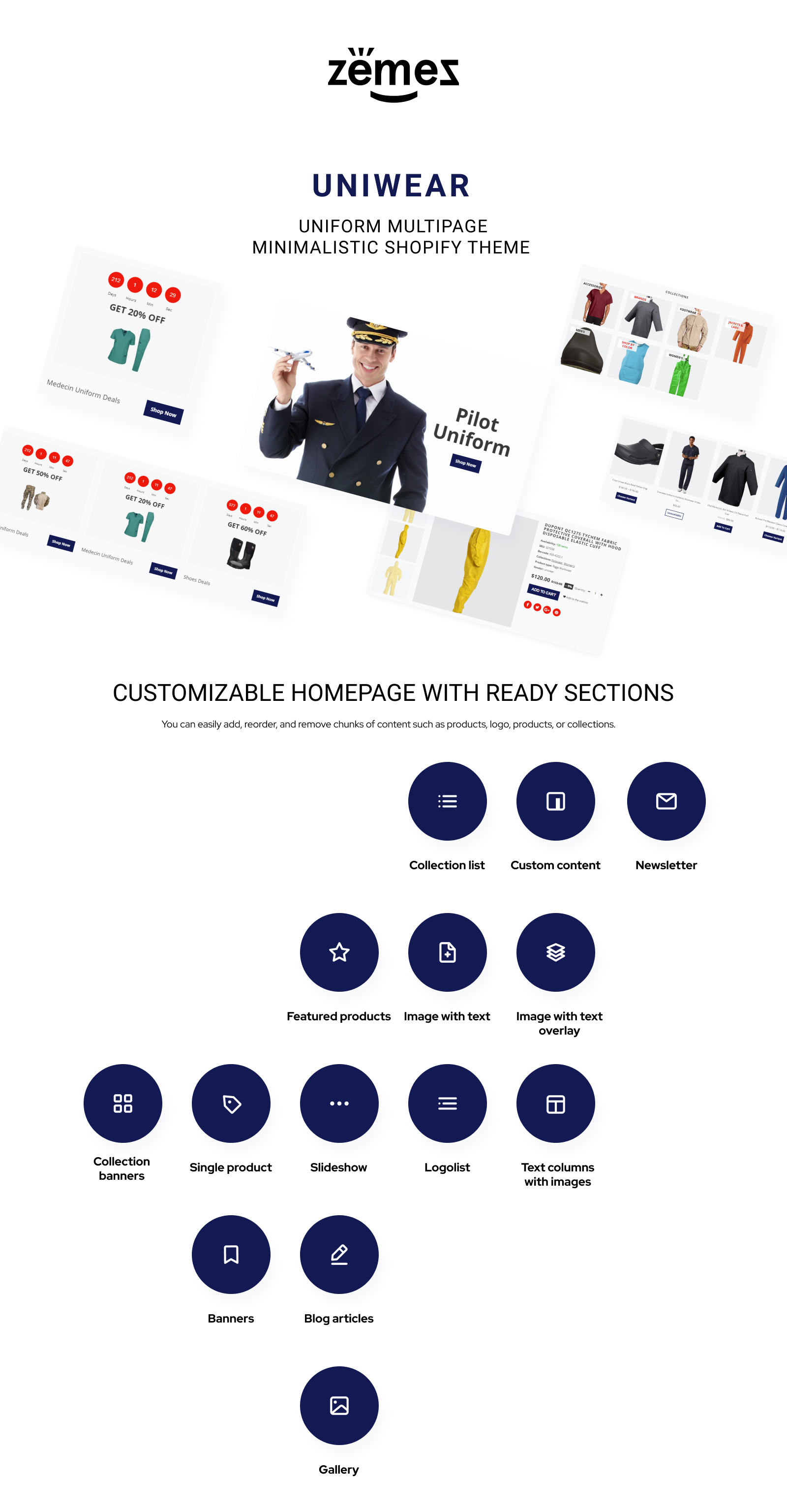 Uniwear - Uniform Multipage Minimalistic Shopify Theme