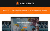 """Real Estate - Construction Company"" Responsive Website template"