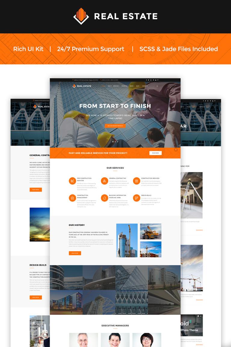 Website Vorlage #66064 für Baufirma