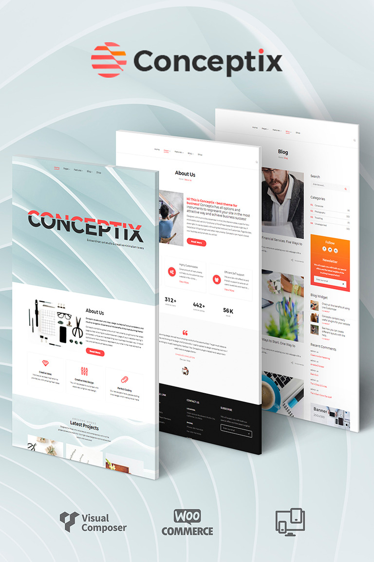 Conceptix - Art Studio WordPress Theme Big Screenshot