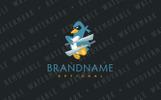 Ninja Penguin Logo Template