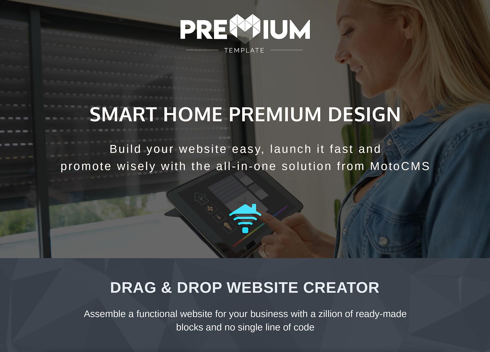 Smart Home Moto CMS 3 Template