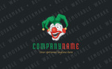 Crazy Clown Logo Template
