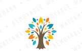 Ornamental Star Tree Logo Template