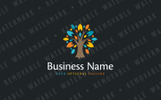 Ornamental Star Tree Logo Template
