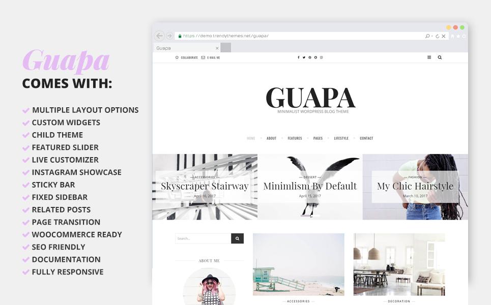 WordPress Theme #64548 für Mode-Blog