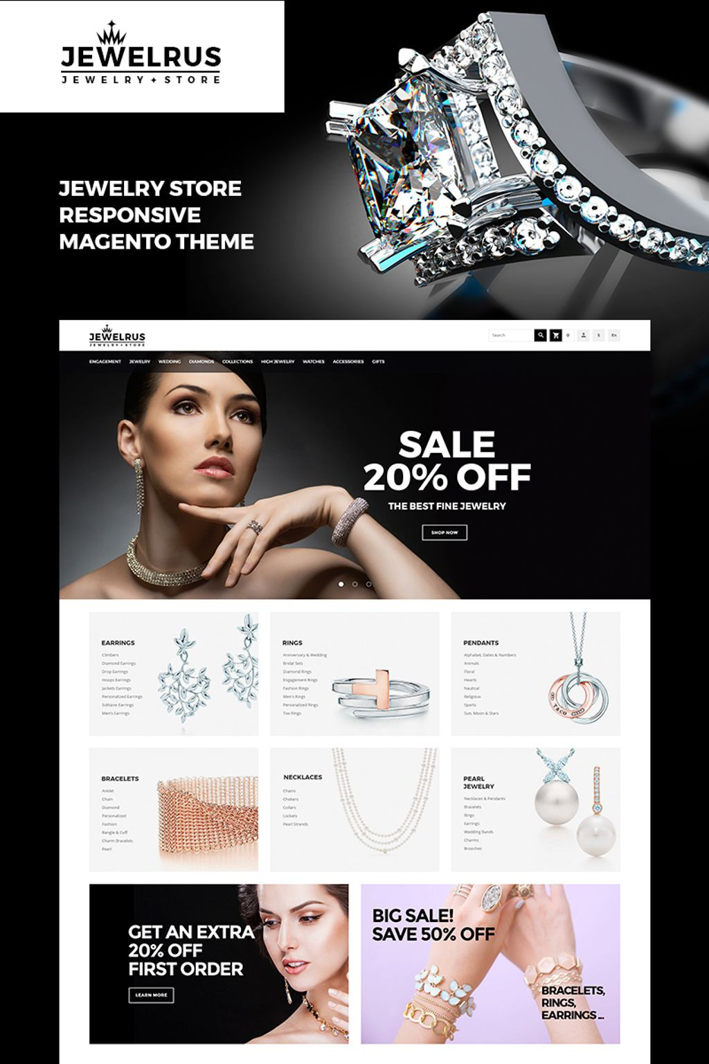 Jewelrus - Jewelry Store Magento Theme Big Screenshot