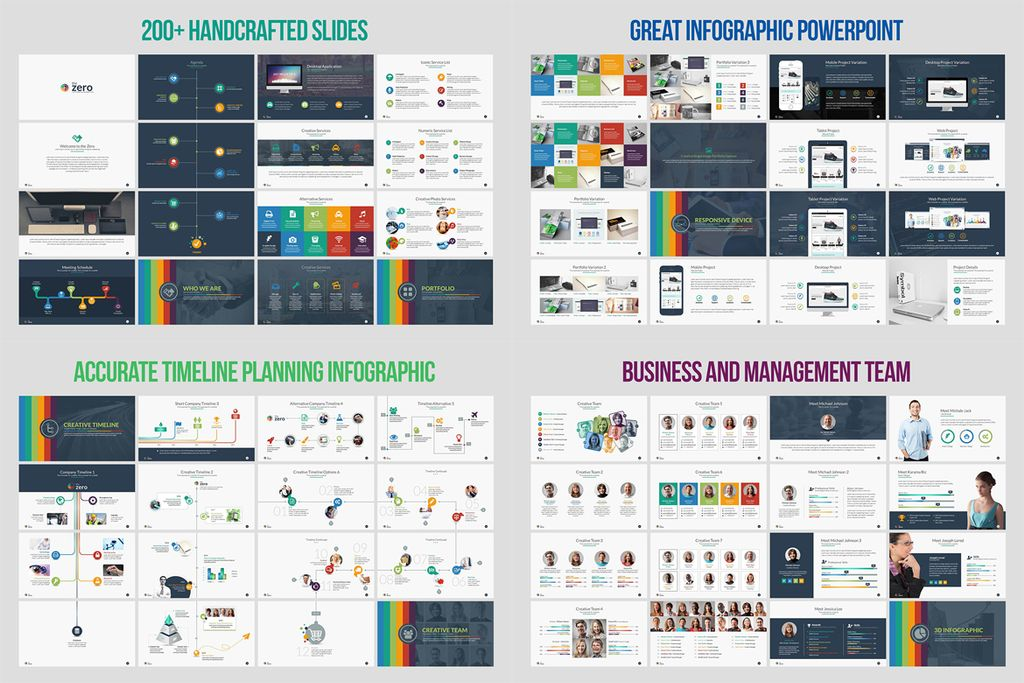 business infographic powerpoint presentation template