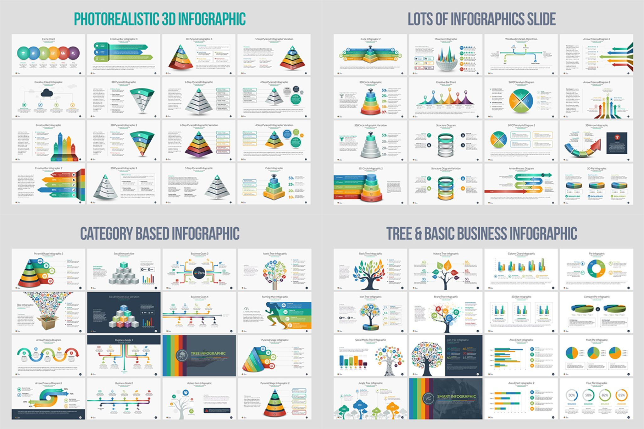 Business Infographic Presentation Powerpoint Template 66111