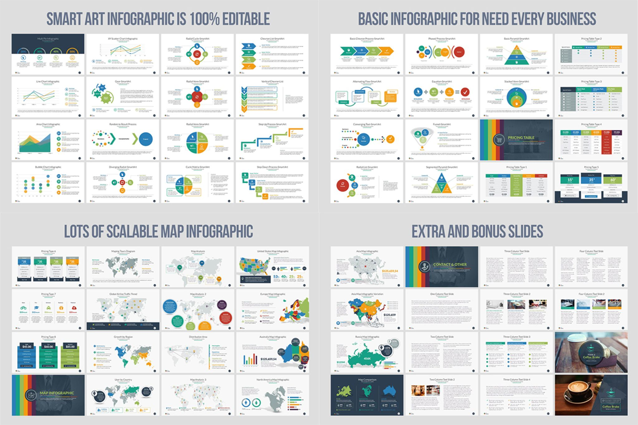 Business Infographic Presentation - PowerPoint Template #66111