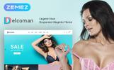 """Magento Theme namens """"Delcoman - Lingerie Store"""""""