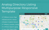 Analog Directory Listing Multipurpose Responsive  + RTL Website Template