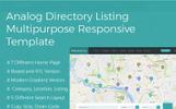 "HTML шаблон ""Analog Directory Listing Multipurpose Responsive  + RTL"""