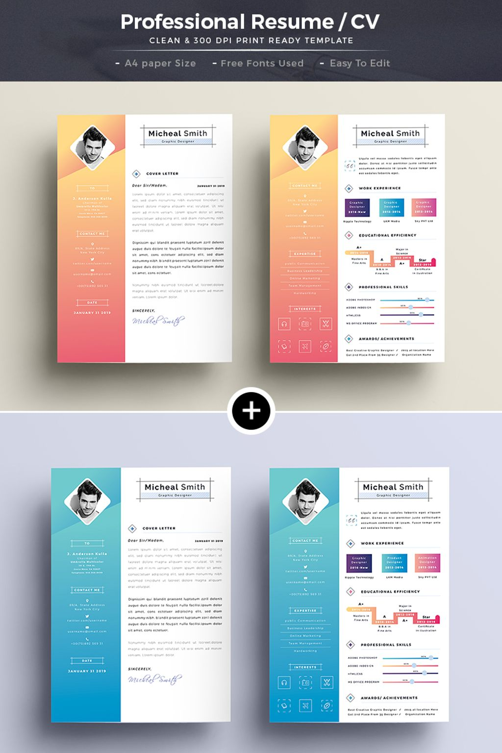 Creative U0026 Professional   Resume Template Big Screenshot  Creative Professional Resumes