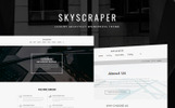 "WordPress Theme namens ""Skyscraper - Architecture And Construction"""