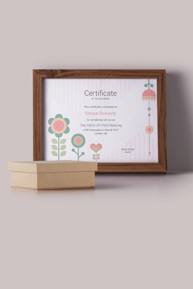Technical 2 color variations certificate template 66466 kids flowers certificate yadclub Choice Image