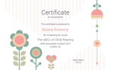 Kids & Flowers Certificate Template