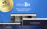 MineBit - Plantilla WordPress para Sitio de Criptomoneda Bitcoin