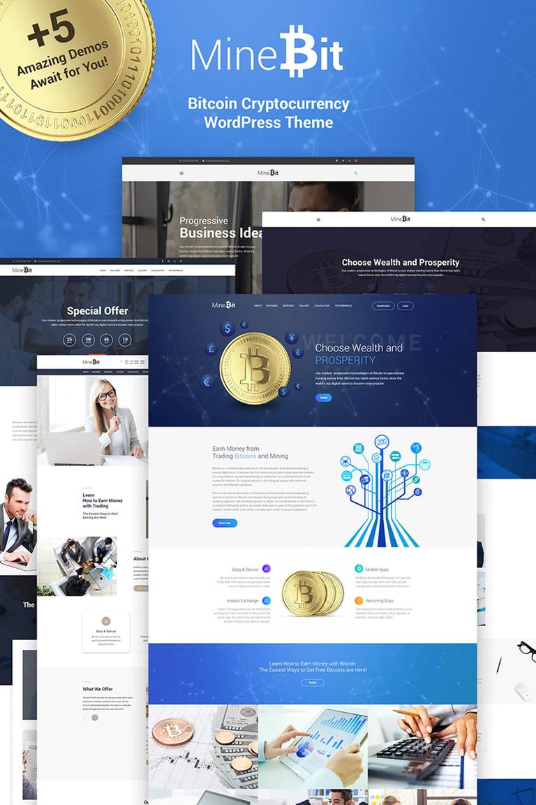 MineBit - Bitcoin Cryptocurrency WordPress Theme New Screenshots BIG