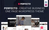 """Perfecto - Business One Page"" 响应式WordPress模板"