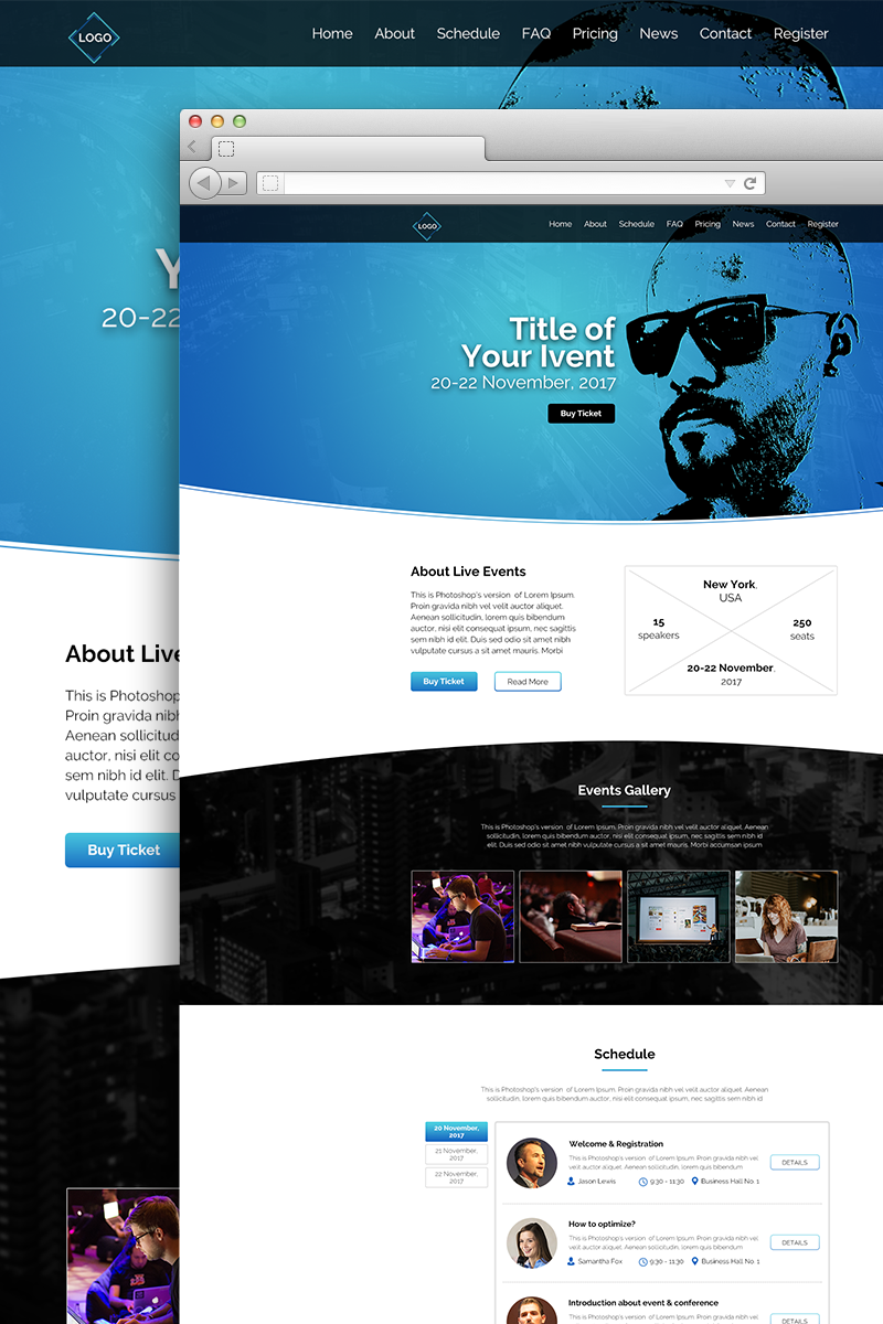Event Conference PSD Template 66124