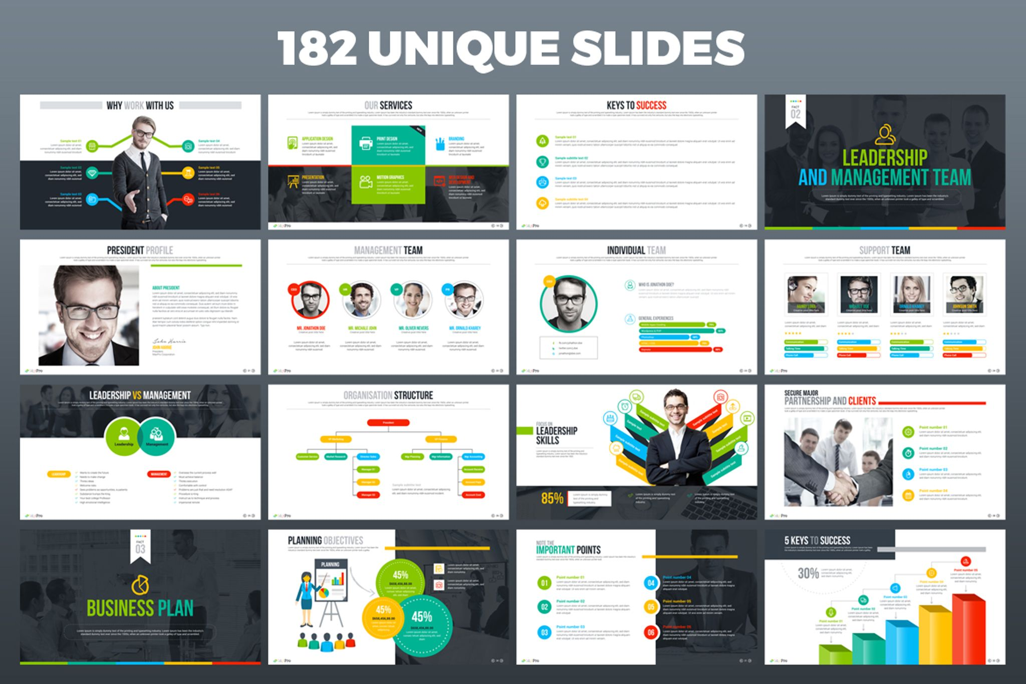 MaxPro - Business Plan PowerPoint Template #66751