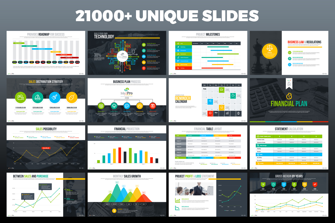Maxpro business plan powerpoint template 66751 zoom in toneelgroepblik Image collections