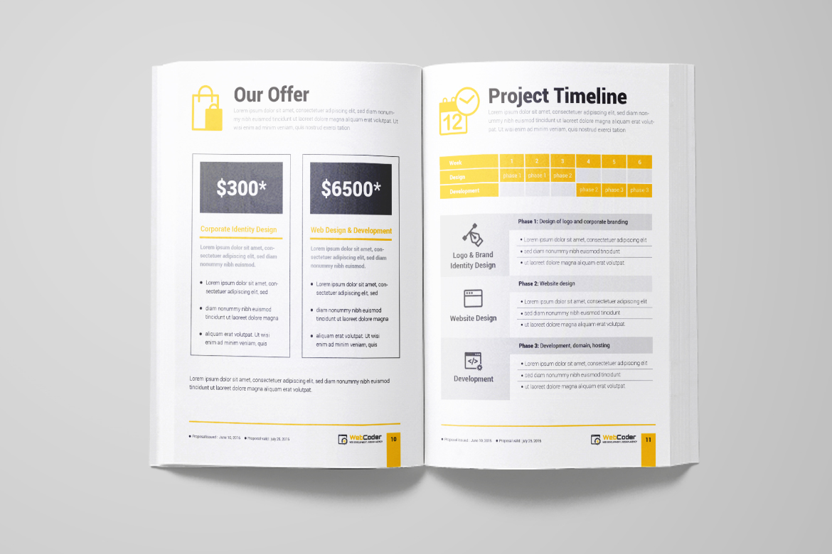 web proposal for web design and development agency corporate identity template big screenshot