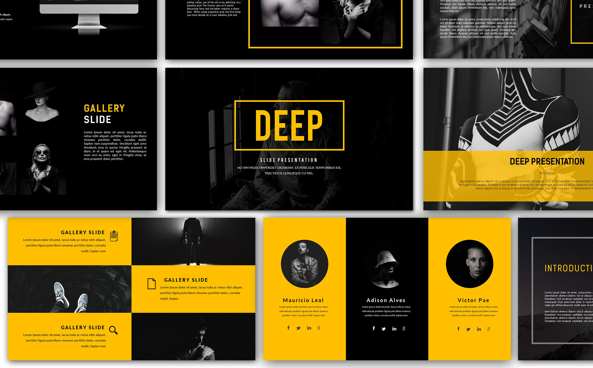 deep creative - keynote template #66137, Powerpoint templates