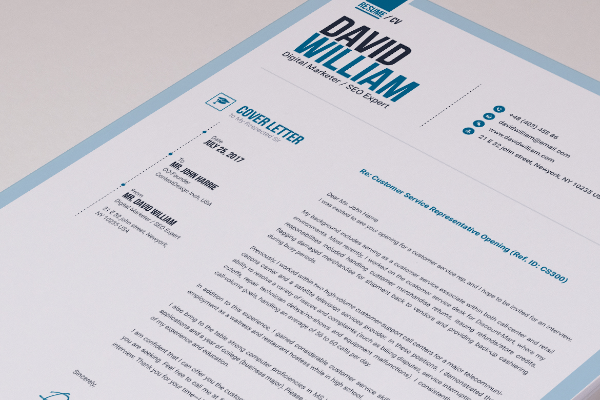 Job / CV Builder with ms word Resume Template #66172