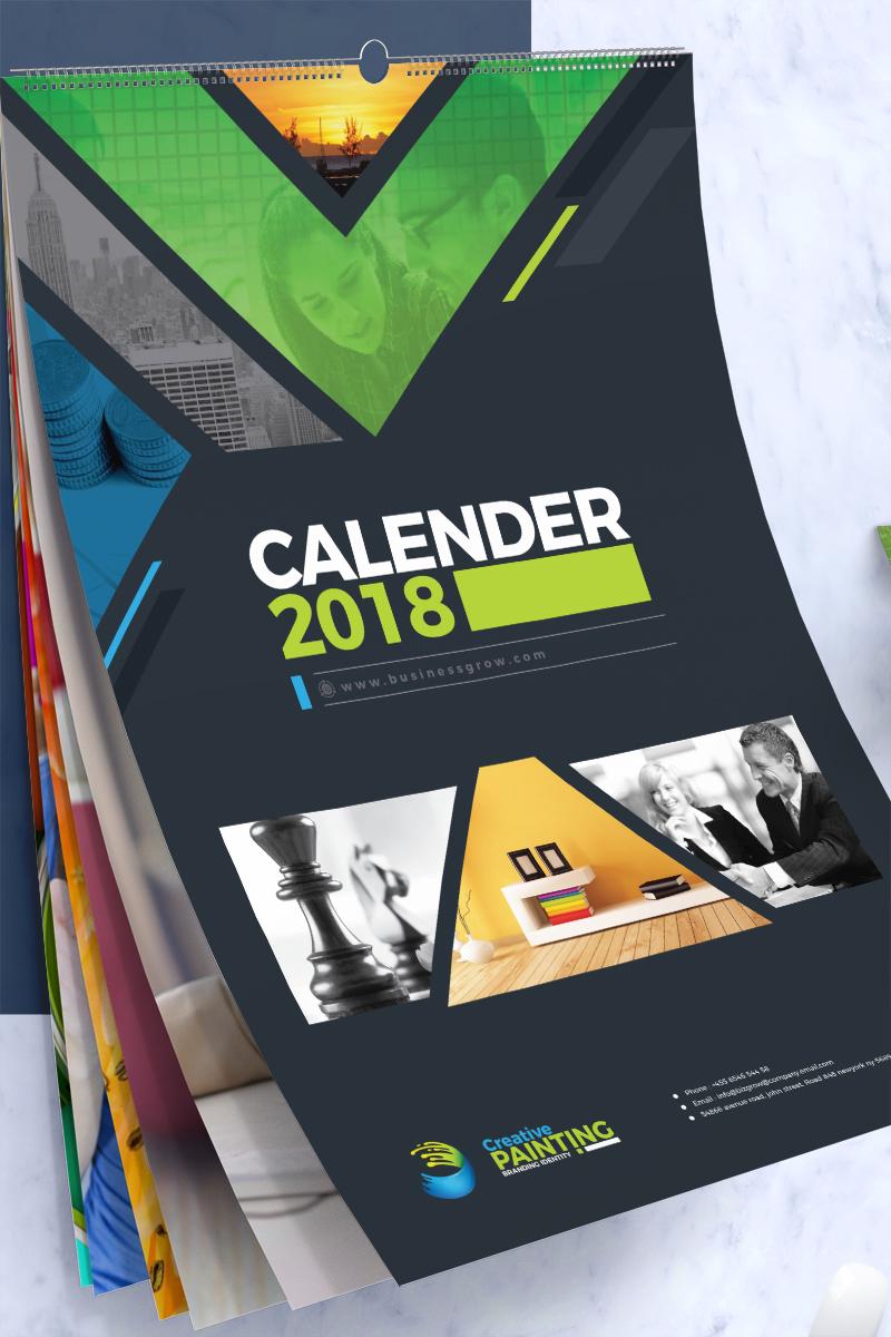 2018 Wall And Desk Calendar Design Corporate Identity Template 66146