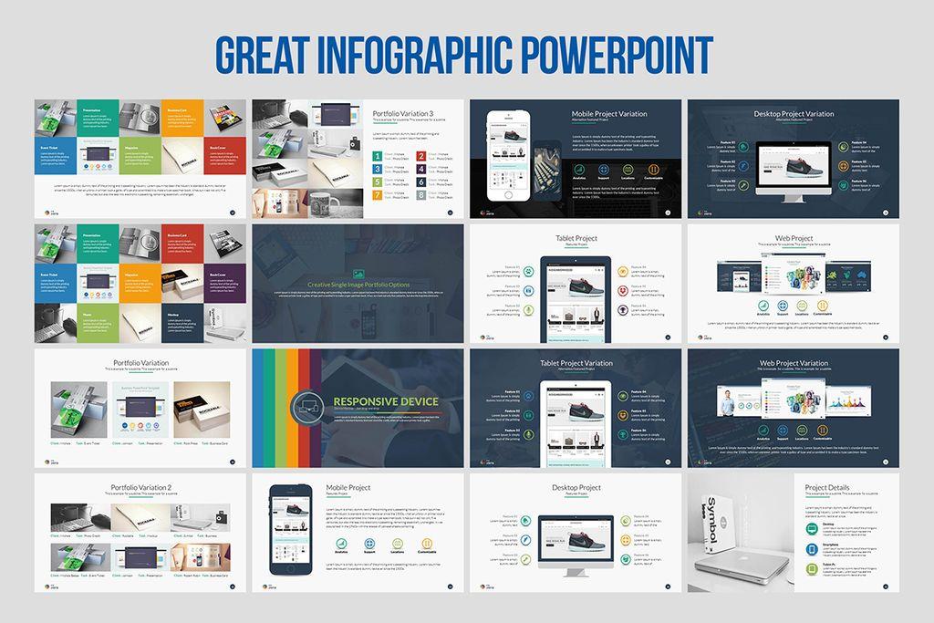 business infographic presentation keynote template #66256, Presentation templates