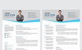 John Vector Modern Resume Template