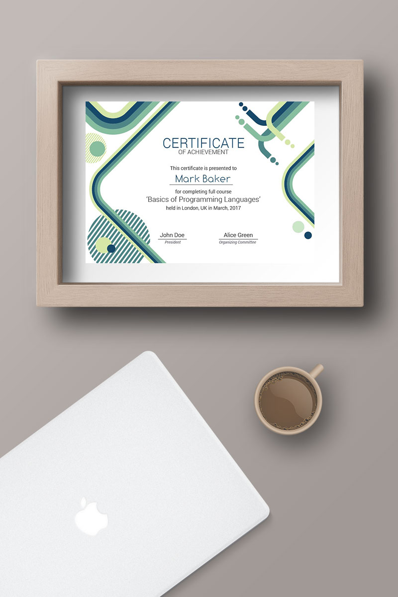 It Courses Certificate Template 66205
