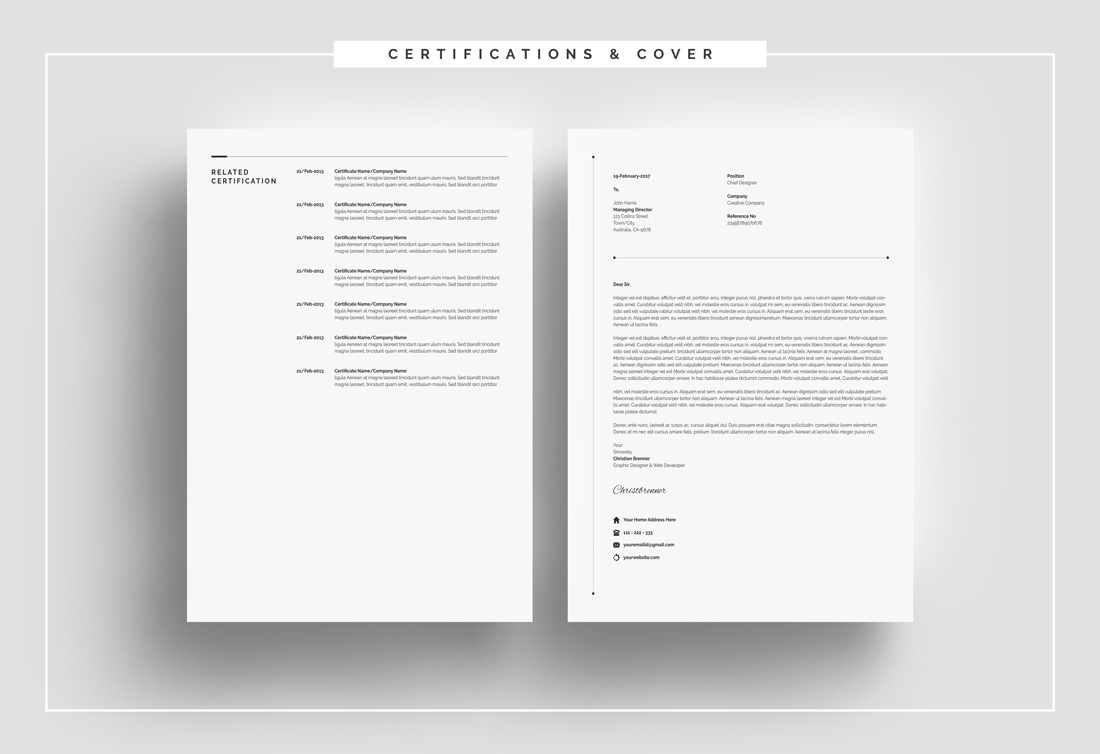 Clean resume with cover letter resume template 66166 clean resume with cover letter resume template big screenshot madrichimfo Gallery