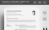 Clean with Cover Letter Resume Template