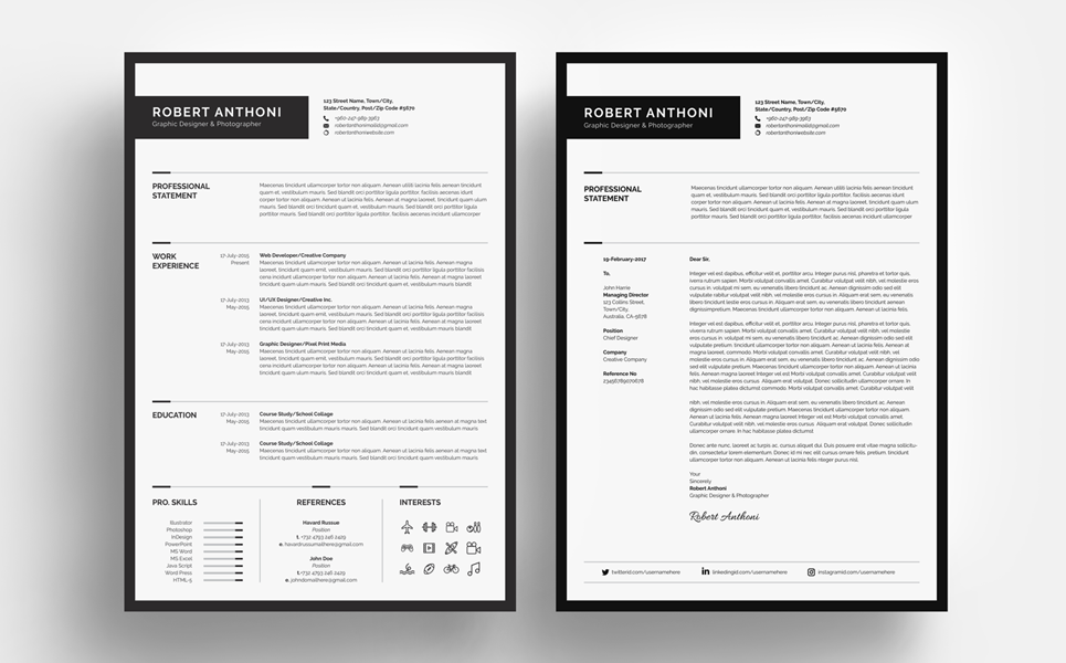 Clean resume designerdeveloperphotographer resume template 67893 zoom in thecheapjerseys Gallery