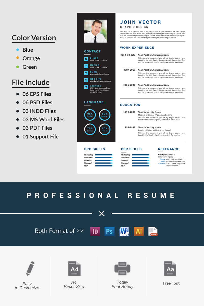 Modern  Creative Resume Template