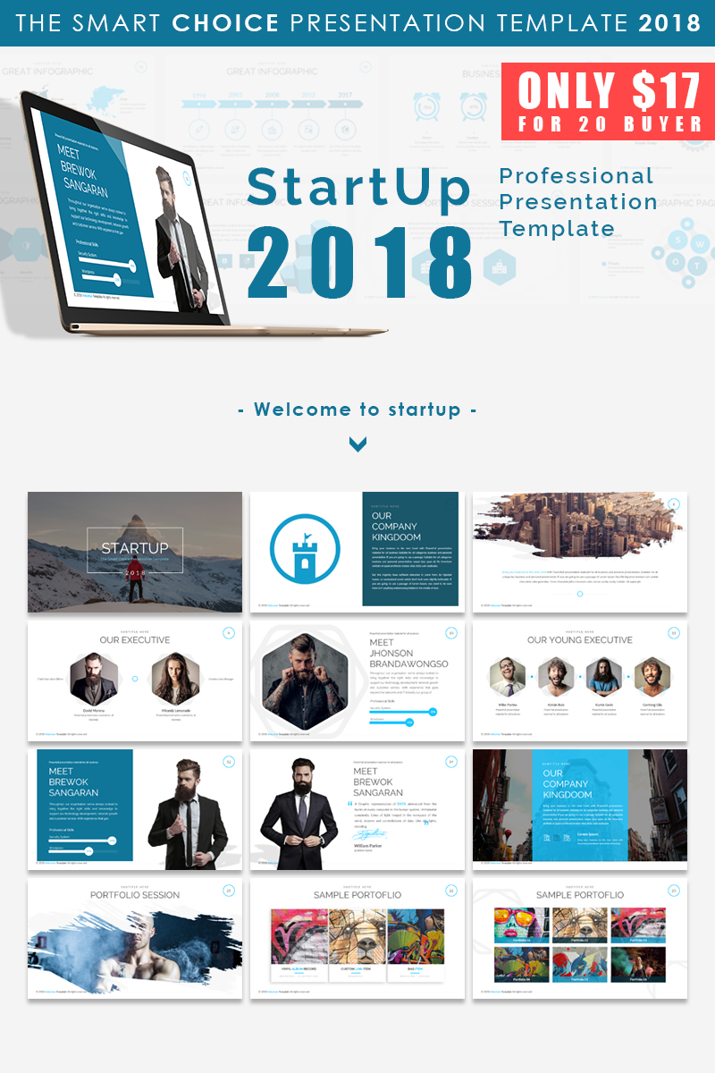 start up 2018 - presentation powerpoint template #66169, Presentation templates