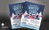 Szablon PSD Winter Camp Flyer #66168