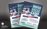 Winter Camp Flyer PSD Template