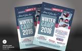"Tema PSD #66168 ""Winter Camp Flyer"""