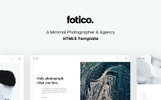 Fotico - Minimal Photographer & Agency HTML5 Website Template