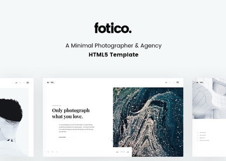 Fotico - Minimal Photographer & Agency HTML5