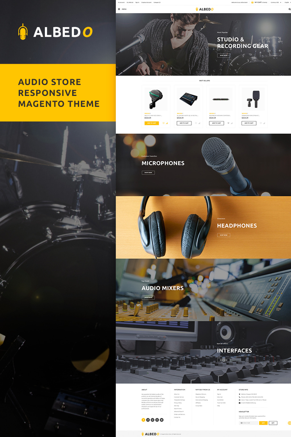 Albedo - Audio Store Magento Theme Big Screenshot