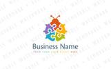 Puzzle Ladybug Logo Template