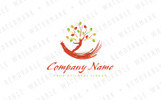 Human Tree Logo Template