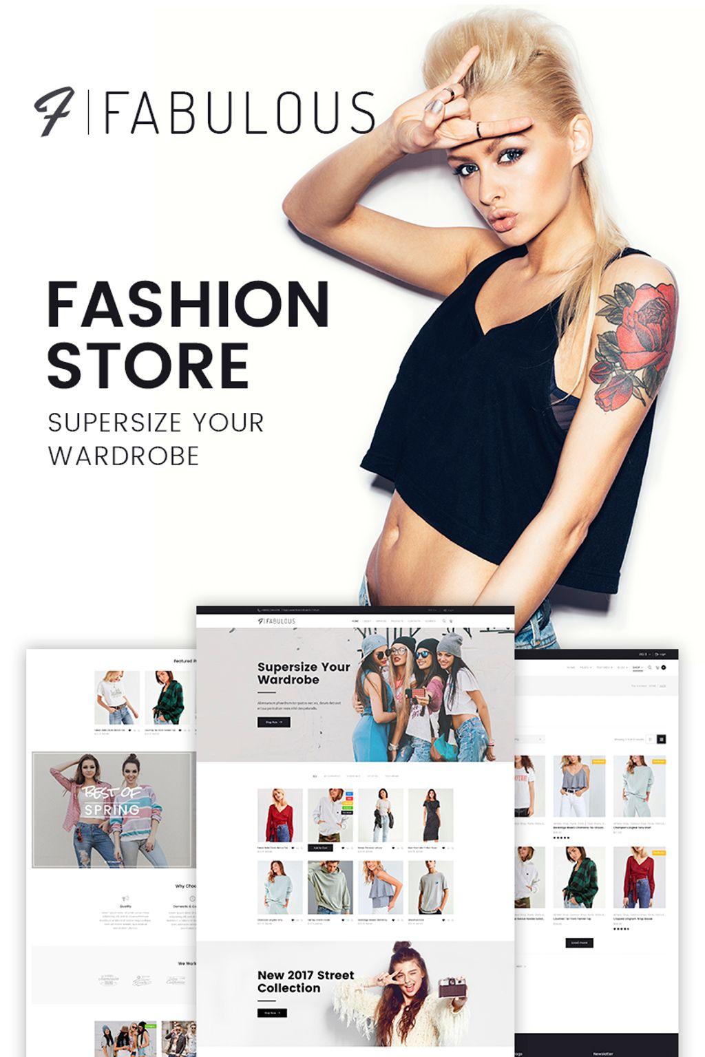 Fashion store templates templatemonster fabulous fashion store pronofoot35fo Choice Image