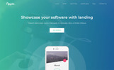 Responsives Landing Page Template für Software