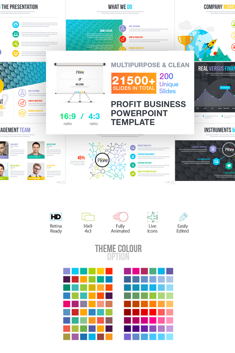 Business plan presentation powerpoint template 66234 wajeb